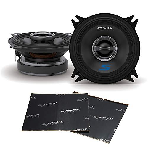 Alpine Type S Bundle S-S40 Car Audio Coaxial 180W Speaker Pair with Harmony Audio Sound Dampening Speaker Kit