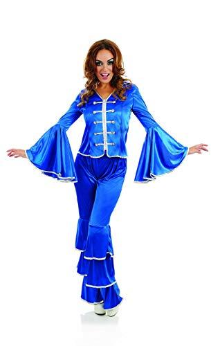 Fun Shack FN4197XL kostuum, Vrouwen, Dansende Koningin Blauw, X-Large