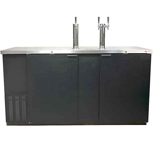 Find Discount Direct Draw 3 Kegerator Refrigerator in Black with Glass Rinser