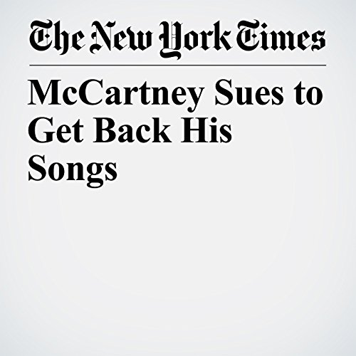 McCartney Sues to Get Back His Songs copertina