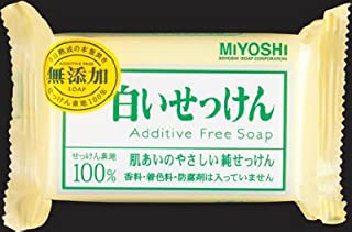 ミヨシ石鹸  無添加 白いせっけん108g×80点セット (4904551001522)