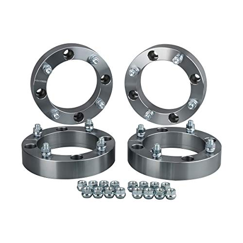 ANPART Wheel Spacers 4x156 10x1.25 131 1 Silver Compatible with 2015-2017 for Polaris RZR 900 2014-2018 for Polaris RZR XP 1000