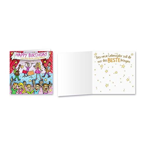 Sheepworld, Gruss & Co - 90046 - Klappkarte, mit Umschlag, Geburtstagsgrüsse mit Pop Nr. 46, Happy Birthday Lass Dich heute richtig feiern!
