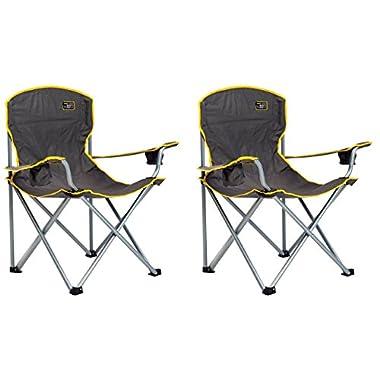 Quik Chair Heavy Duty Folding Camp Chair - Grey (2 PACK)