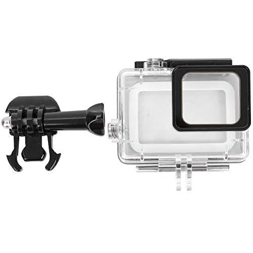 Akozon Carcasa Impermeable Compatible con la cámara Go-Pro 5 6 7 Carcasa Protectora subacuática de 40M para cámara