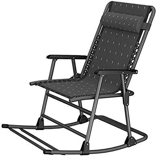 Chaise Balancelle Loisirs avec Coussins de Jardin Reclining Zero Gravity Patio Longue Pliante Rocking Chair Outdoor Recliners Garden Beach Camping Neck Pillow Sun Garden Lo
