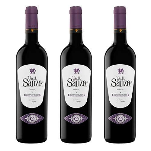 Vallsanzo Vino Tinto Crianza - 3 botellas x 750ml - total: 2250 ml