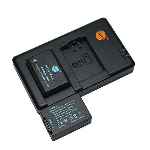 DMW-BMB9 BMB9E - Batería recargable y cargador dual compatible con cámaras Panasonic Lumix DMC-FZ150, V-Lux2, V-Lux3, Leica BP-DC9, DC-FZ80, DC-FZ82, V-Lux2, V-Lux3, etc.