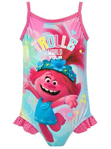 Trolls Costume da Bagno per Ragazze Poppy Multicolore 4-5 Anni