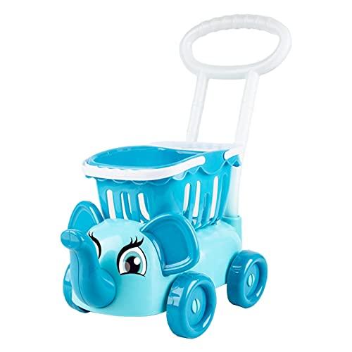 Amagogo Carrito de Compras Realista, Accesorios para Carrito de comestibles, Carrito de Comida para niños pequeños de 3 años - Azul