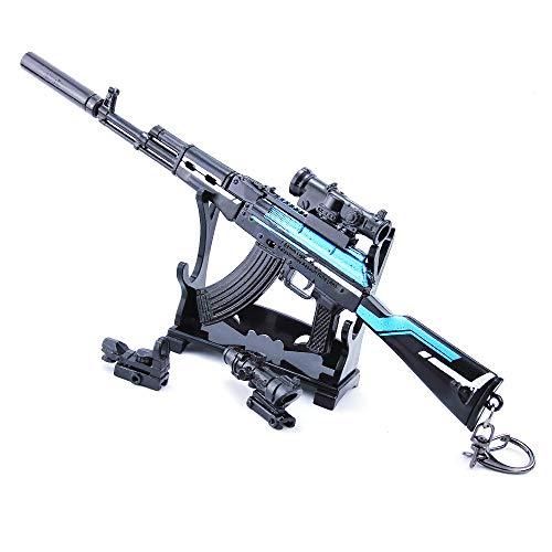 QISUO AKM - Llavero con colgante de pistola de rifle de metal, juguete modal para juegos, periféricos de batalla, regalo para niños, mini figuras de acción, decoración