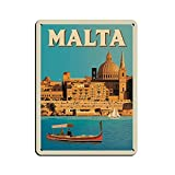 Malta City Retro Reise-Poster Landschaft Poster Retro
