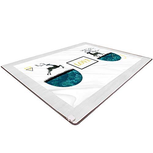 LHSG Heizung Fußmattenpolster, elektrische Teppichzehen-Heizung für Büroangestellte, elektrische Heizmatte aus Kohlekristall mit intelligentem Thermostat