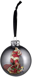 HARLEY-DAVIDSON 2017 Biker Santa Glass Ball Ornament, 3 inches 96909-18V