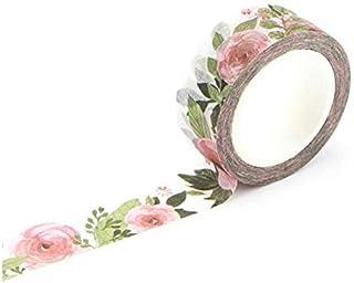 Décoratif Accessoires 1.5cm Large Luxuriant Fleurs Washi Ruban Ruban adhésif Autocollant Étiquette DIY Scrapbooking Maskin...