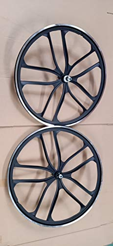 "R4 26"" BMX CNC Bicycle 10 Spoke Mag Alloy Wheelset (Matte Black)"