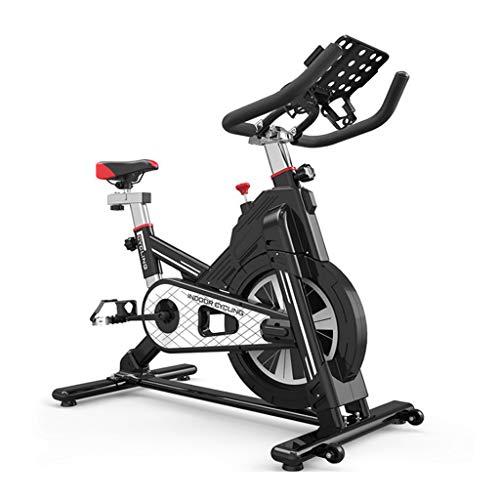 LALAWO Heimtrainer, Silent Belt Drive Indoor Cycle Bike mit Kalorienzähler, Dynamic Big Schwungrad Fahrrad Rot oder Schwarz,Schwarz