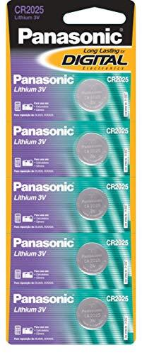 Tira de Bateria de Lithium Botão, Panasonic, CR2025-1BT
