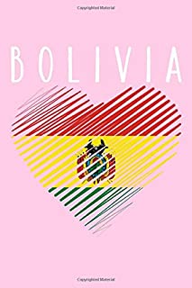 Bolivia: Pink Travelers Journal To Write In For Women and Girls with Bolivian Flag To Show Bolivian Pride Lined Paper Notebook