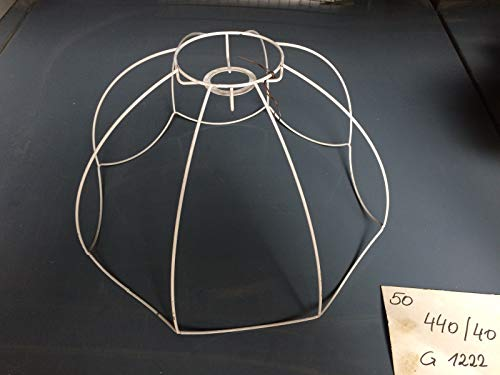 Lámpara de pie con pantalla de alambre 40 cm