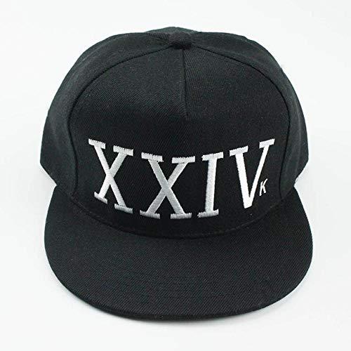NSWZX® Bruno Mars 24K Magic Gorras K-Pop Hat, Gorra de béisbol Ajustable Hip Hop Hat, Snapback Sun Caps para Hombres Mujeres-Negro