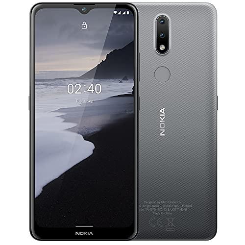 Nokia 2.4 Smartphone mit 6,5 Zoll HD+ Bildschirm, Portät- & Nachtmodus, Akku mit 2 Tage Laufzeit, Fingerabdrucksensor, robustes Design, Android 10 & Google-Assistant-Knopf, Charcoal
