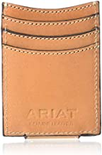 Ariat Unisex-Adult's Floral and Basket Stamp Magnetic Money Clip Wallet, tan
