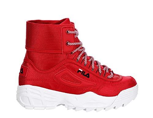 Fila Disruptor Ballistic Boot (7, Red/White Ballistic), Red, Size 7.0