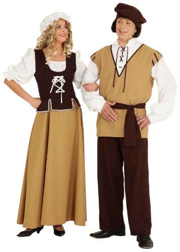 Damen Kostüm Mittelalter Magd Kleid zu Karneval Fasching Gr.38