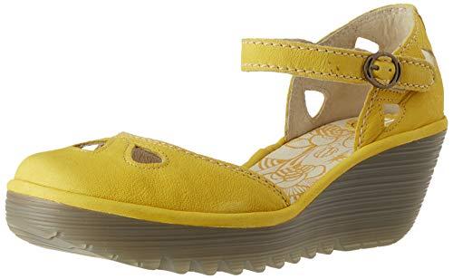 Fly London Damen Yuna Geschlossene Sandalen, Gelb (Bright Yellow 152), 37 EU