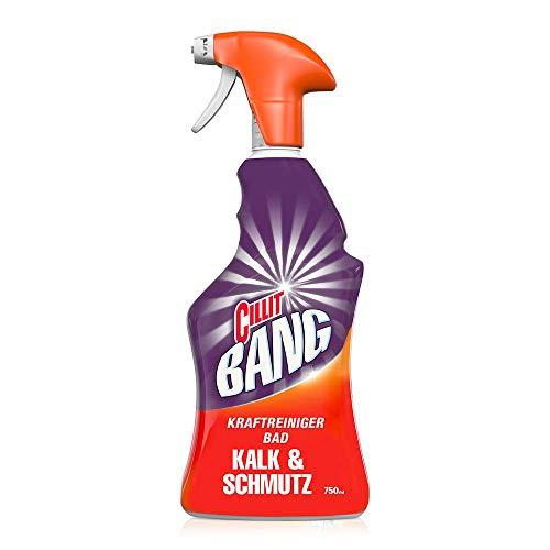 CILLIT BANG Kraftreiniger Bad Kalk & Schmutz – Spray für strahlend saubere Oberflächen – 1 x 750 ml