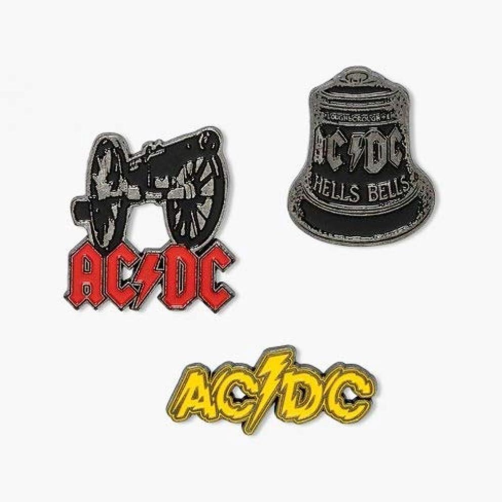 AC/DC Hells Bells Rock Music Enamel Pin Gift Set (1 Set of 3 Pins)