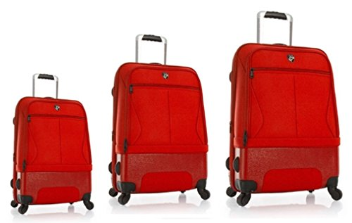 Luggage Sets Suitcases Carry-Ons by Heys - Premium Designer Hybrid Luggage Set 3 pcs. - Heys Hybrid Spinner Air-Lite II Red Hand Luggage+ Trolley with 4 Wheels Medium + Trolley with 4 Wheels Large