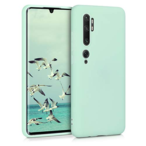 kwmobile Funda Compatible con Xiaomi Mi Note 10 / Note 10 Pro - Funda Carcasa de TPU Silicona - Protector Trasero en Menta Mate