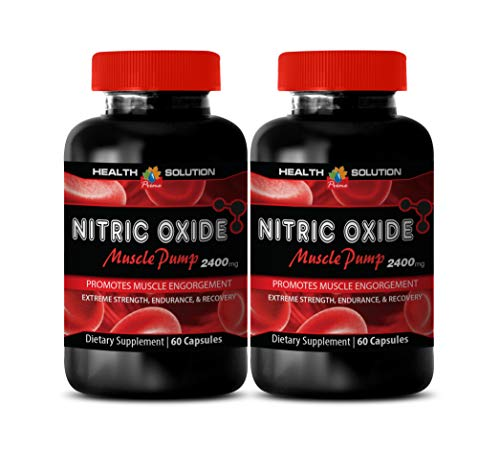Nitric Oxide l-arginine Supplements for Sex - Nitric Oxide Muscle Pump 2400MG - Increase Testosterone Levels (2 Bottles)
