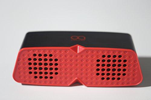 Oaxis Gaga + altavoz estéreo inalámbrico con alimentación 2600mAh Banco de alimentación Li-ion 10horas larga duración (de anuncios, Recharger los teléfono móvil para iOS Android (negro y rojo)
