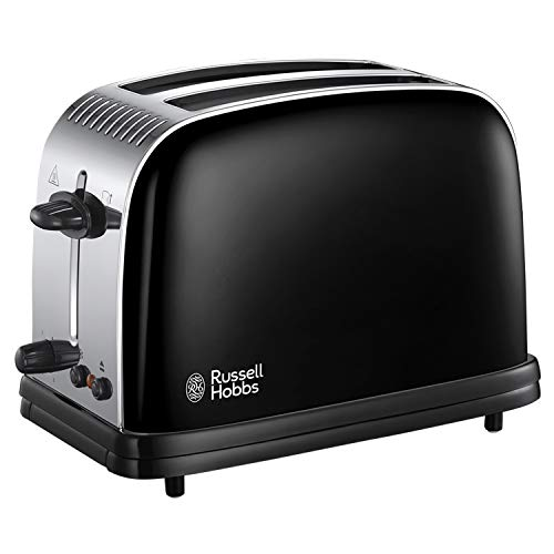 Russell Hobbs 23331 Stainless Steel 2 Slice Toaster, Black