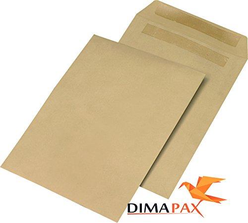 250 Versandtaschen DIN B4 250 x 353 mm Briefumschläge selbstklebend braun dimapax