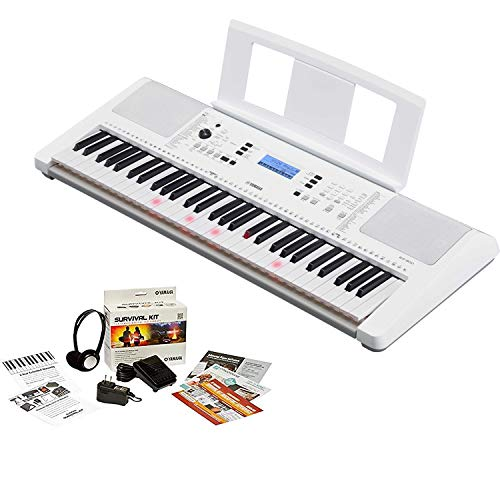 Yamaha EZ-300 61-Key Portable Keyboard with Lighted Keys Bundled with Power Supply, Foot switch, Stereo Headphones, and 2-Year Extended Warranty