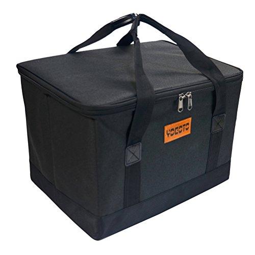 YOGOTO 収納ボックス アウトドア キャンプ コンテナボックス 30L トランクボックス ガーデニング 収納 車載 (ブラック)