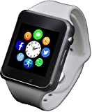 Funntech Smart Watch for Kids with Pedometer Bluetooth Unlocked 2G GSM Phone Call 1.54 Inch Touchscreen Camera, White