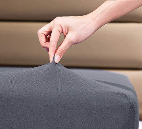 Pościel rodzinna 100% bawełna dżersej pojedyncze prześcieradło z gumką 100 cm x 200 cm, szary