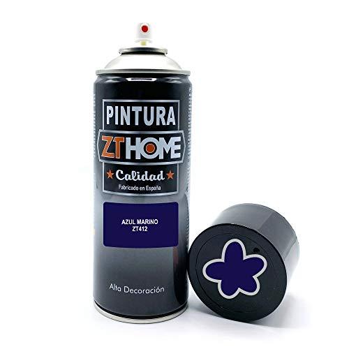 Pintura Spray Azul Marino 400ml imprimacion para madera, met