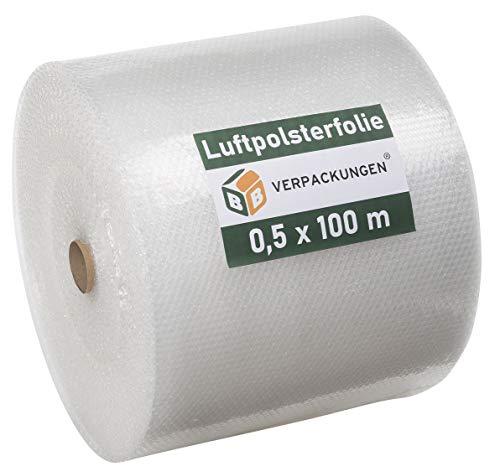 1 x Luftpolsterfolie 0,5 x 100 m Stärke: echte 60 my Noppenfolie Blisterfolie Knallfolie - Sets zwischen 1 und 4 Stück