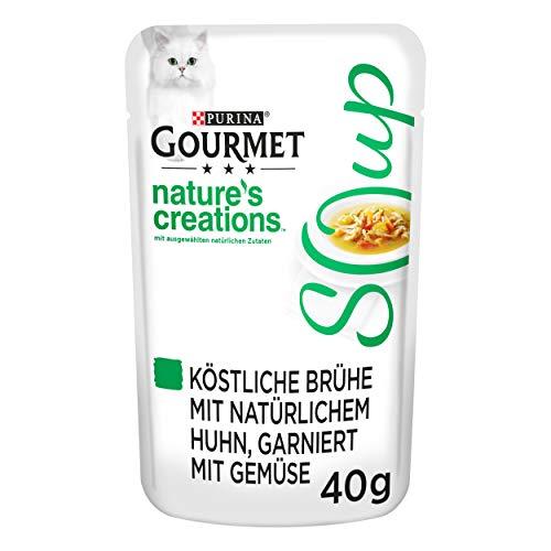 PURINA GOURMET Crystal Soup für Katzen mit naturbelassenem Huhn und Gemüse, 32er Pack (32 x 40g)
