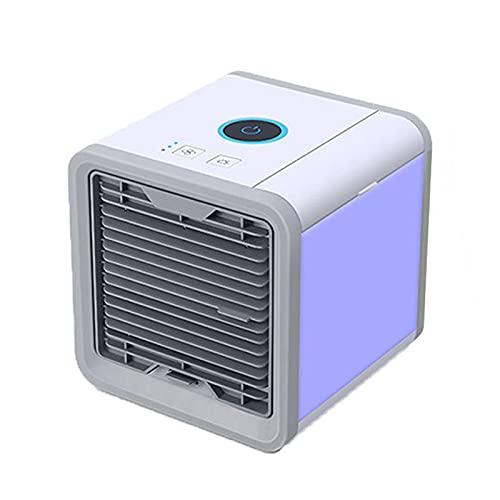 Zhantie Aire acondicionado portátil con luz LED Mini ventilador de refrigeración personal 3 modos para el hogar oficina escritorio al aire libre viajes