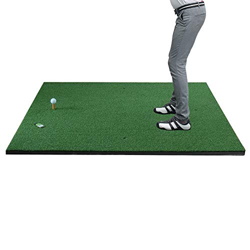 Sale!! QPABS SHOPS Golf Practice Ball Mat Swing Exerciser Simulation Nylon Grass Ball Mat with Anti-...