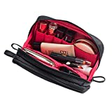 Pengxiaomei Small Medium Makeup Bag(Size:7.5×4×2.75Inch)Travel Beauty Bag Cosmetic & Toiletry Bag Makeup Brush Bag Organizer Kit for Women Girls(Black)