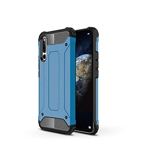 ZHIWEI Das tragbare Handy Tasche Schutzhülle für Huawei Honor Magic 2 Hülle, TPU + PC Stoßfänger Dual Layer Stoßdämpfe Hybridschutz Robustes Fall (Color : Blue)