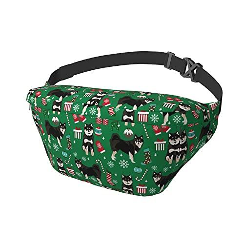 Sport-Brusttasche Sling Bag Crossbody Schulter Rucksack finnischer Lapphund Hund Weihnachten Hund Mode Trend Taille Daypack für Reisen Gym Sport Wandern Radfahren für Männer Frauen